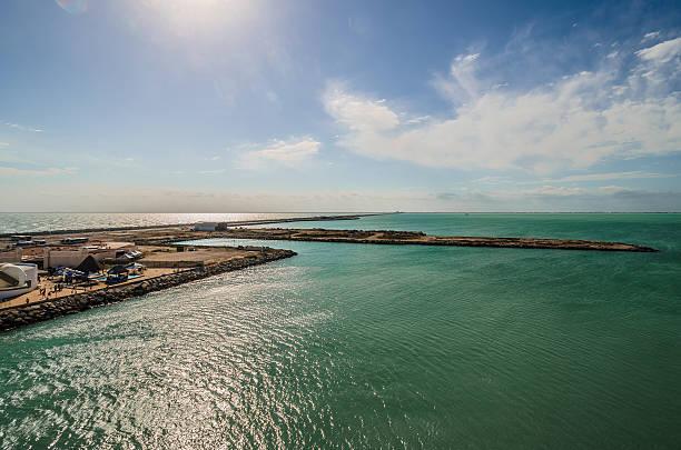 Port of Progeso, Yucatan, Mexico stock photo