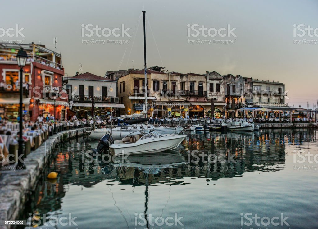 Port of Rethymno stock photo