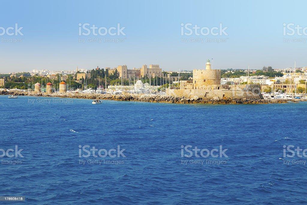 port of Rhodes stock photo