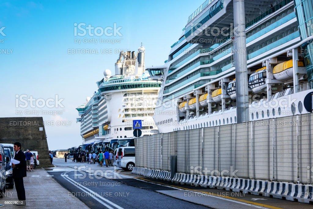 Port of Rome stock photo