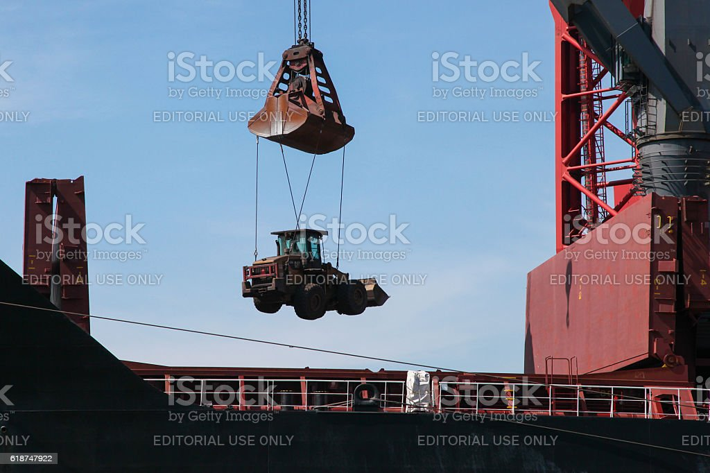 Port of Rotterdam, South Holland, The Netherlands stock photo