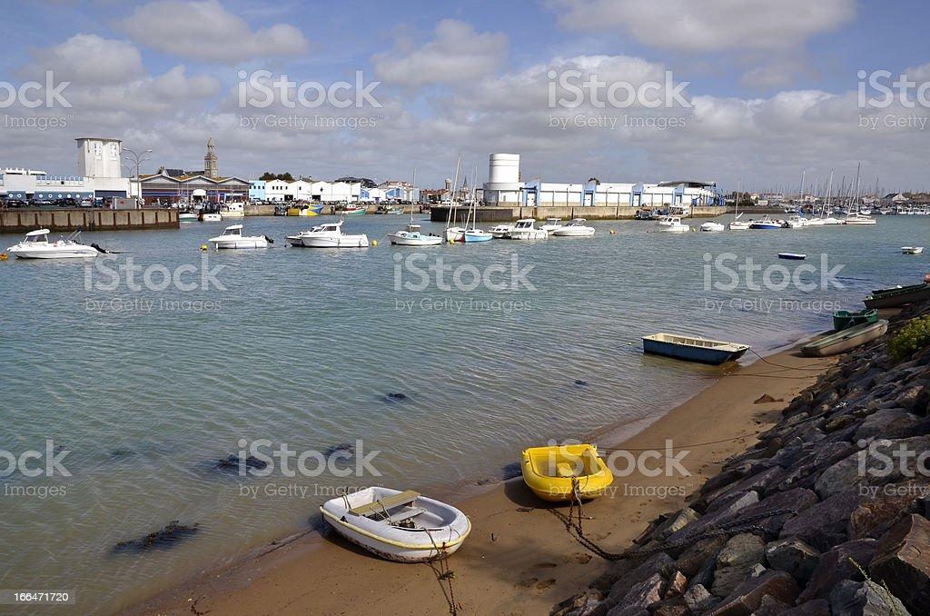 Port of Saint-Gilles-Croix-de-Vie in France royalty-free stock photo