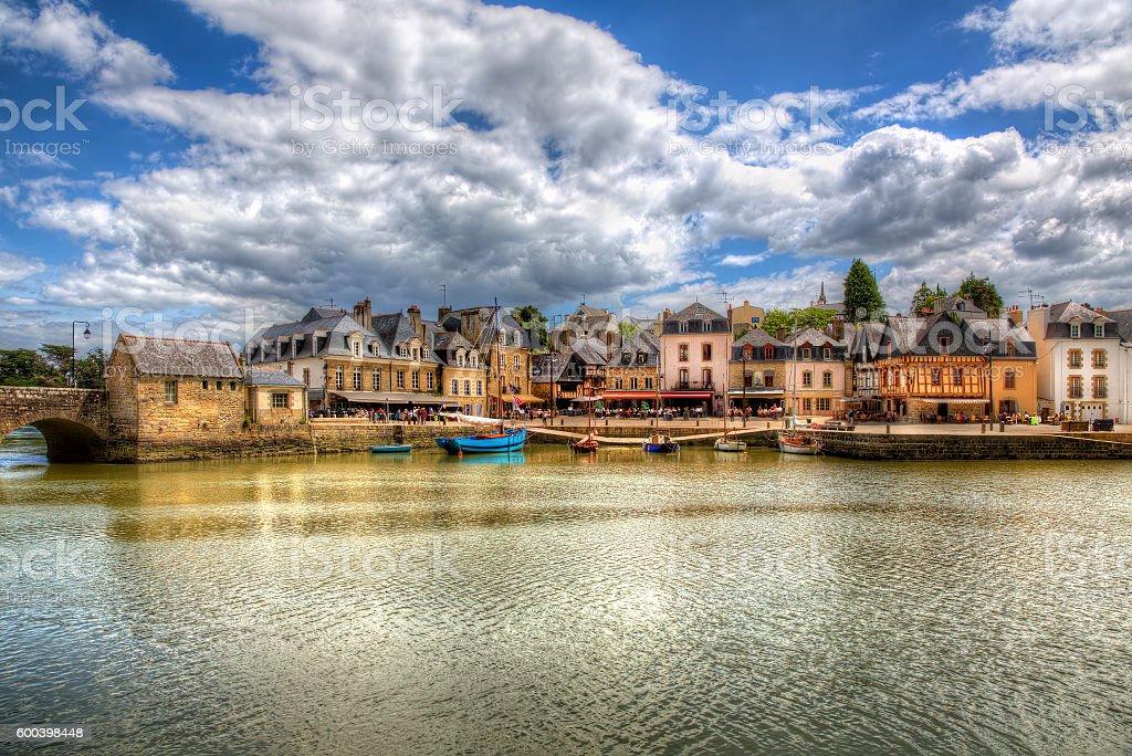 Puerto delaware san Goustan, Auray, Bretaña - foto de stock