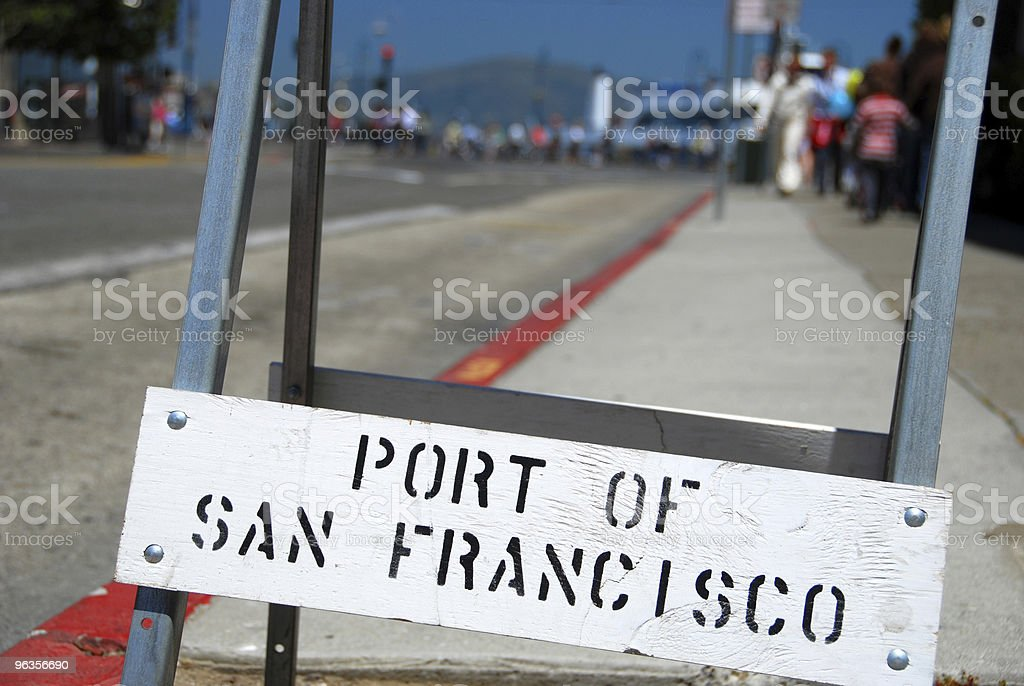 Port of San Francisco Sign royalty-free stock photo