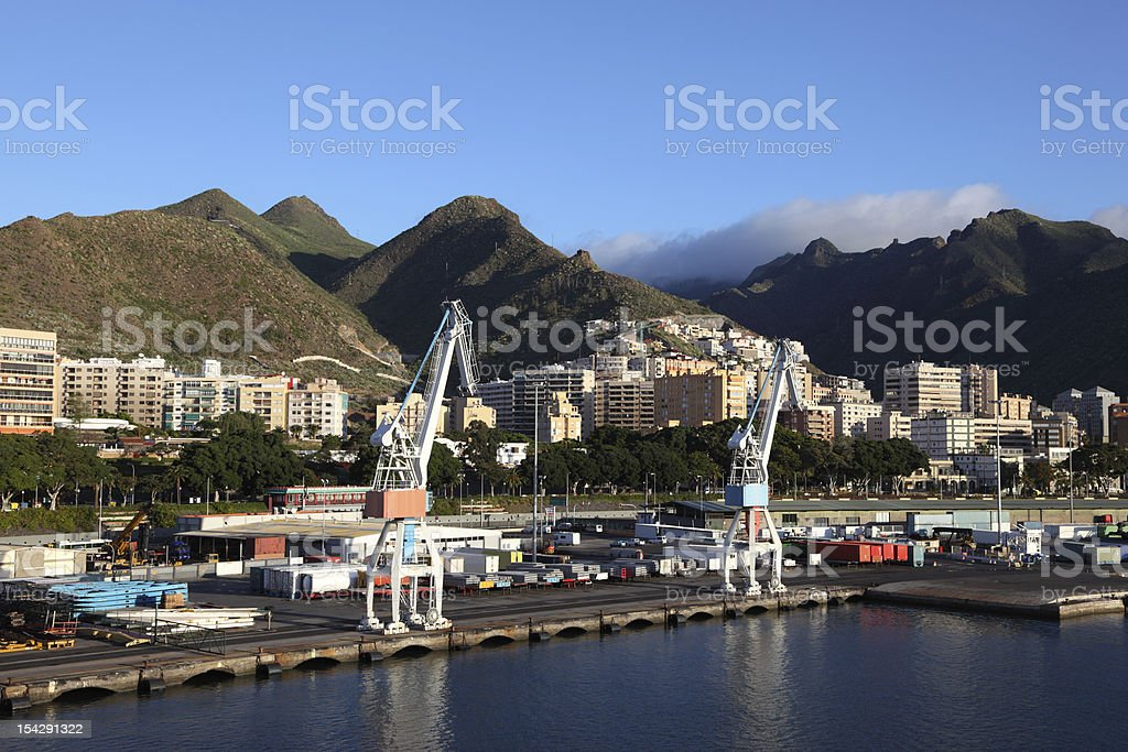 Port of Santa Cruz de Tenerife royalty-free stock photo