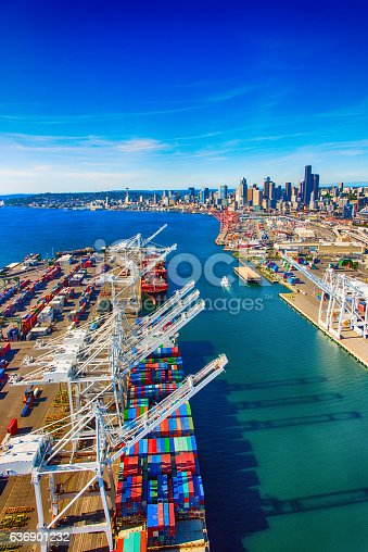 istock Port of Seattle Washington Aerial 636901232