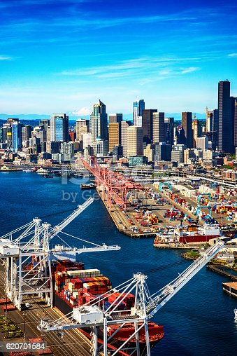 istock Port of Seattle Washington From Above 620701584