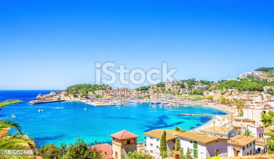 istock Port of Soller (Mallorca) 187052449