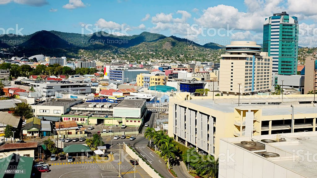Port of spain at Trinidad & Tobago stock photo