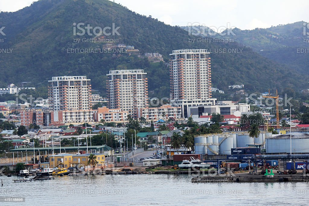 Port of Spain stock photo