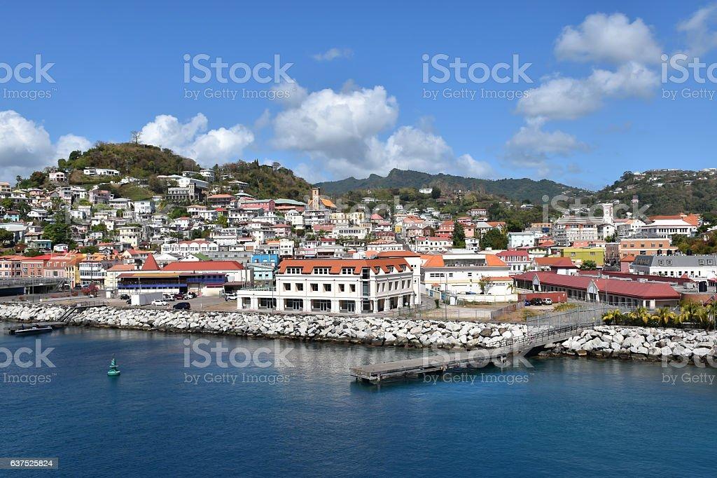Port of St George's, Grenada stock photo