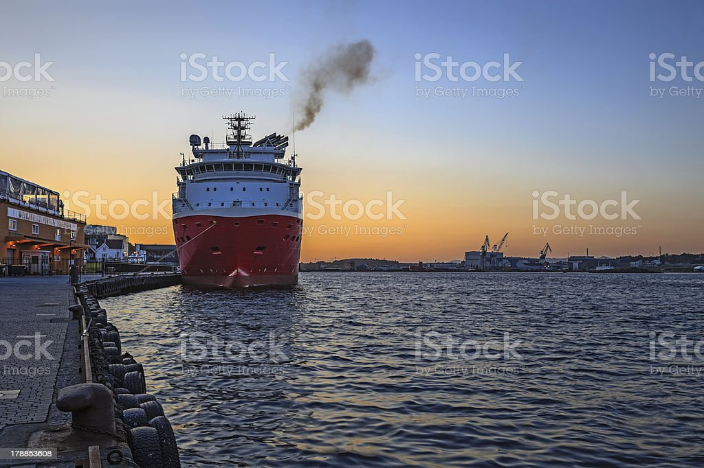 Port of Stavanger royalty-free stock photo