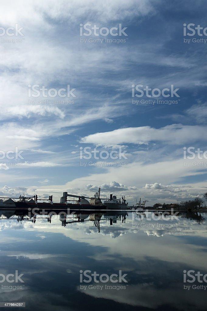 Port of Stockton Under Dramatic Sky stock photo