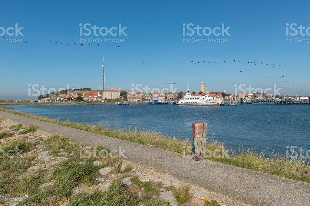Port of the Island Terschelling. stock photo