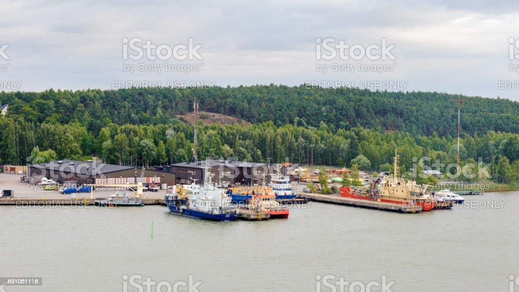 Port of Turku, Finland stock photo