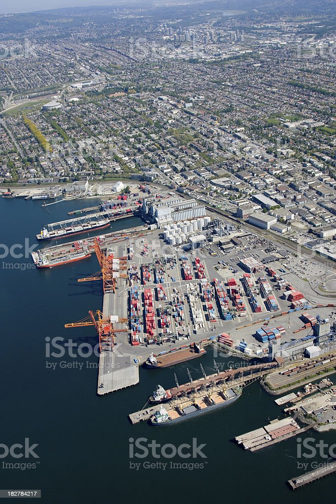 Port of Vancouver royalty-free stock photo
