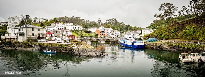 Port of Viavelez, Asturias, Spain. Fishermen town in the Bay of Biscay