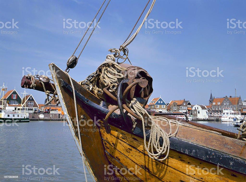 Port of Volendam,Holland royalty-free stock photo