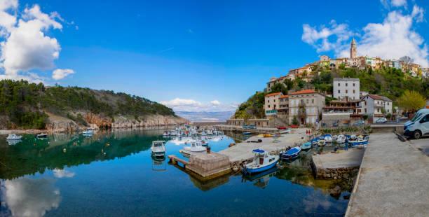 Port of Vrbnik Croatia. stock photo