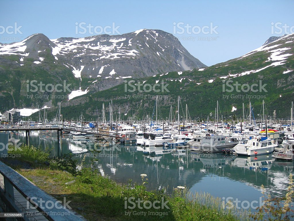 Port of Whittier Alaska stock photo