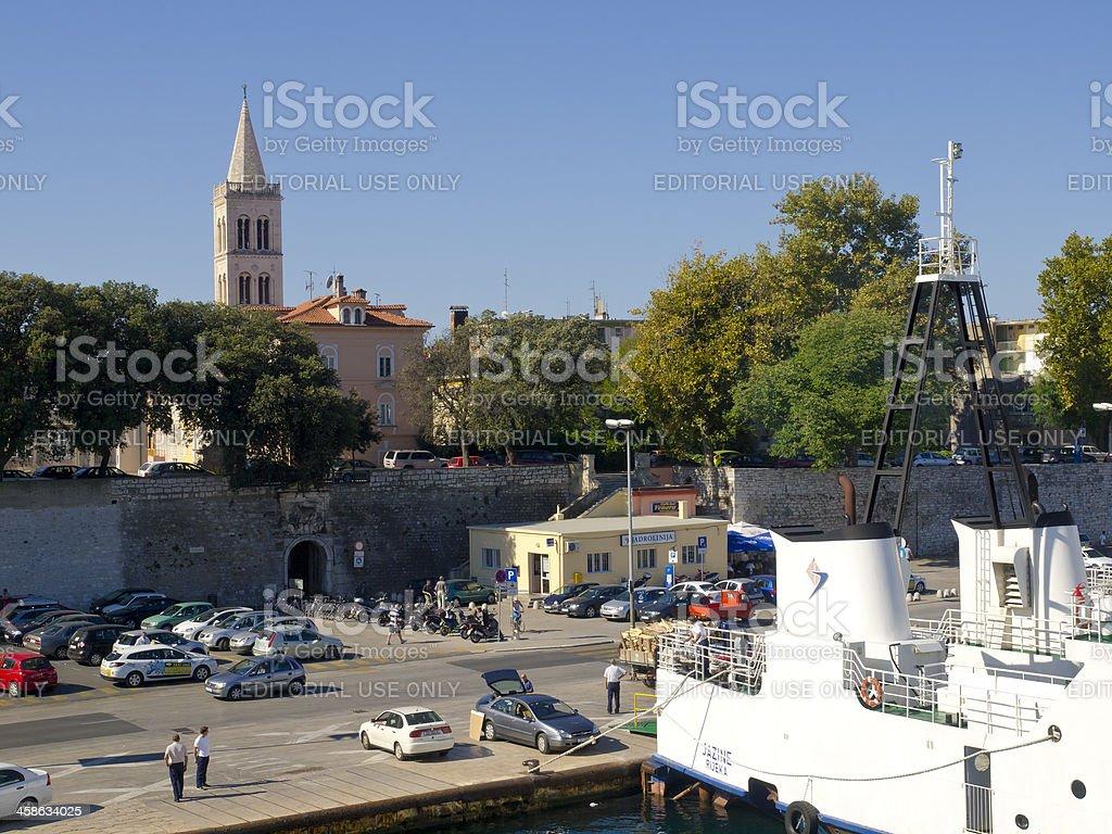 Porto de Zadar - foto de acervo