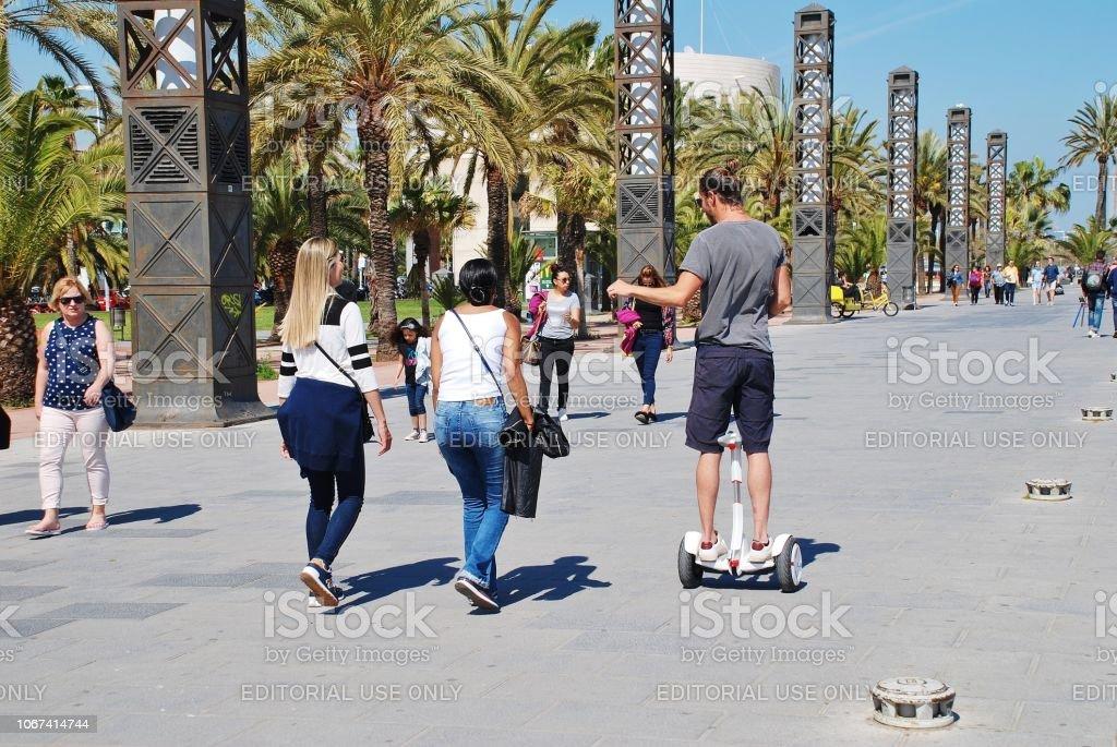 Port Olimpic, Barcelona stock photo