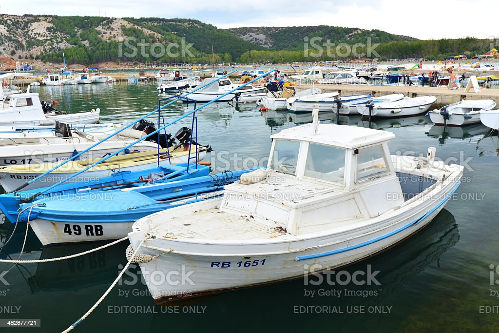 Port on the Croatian coast royalty-free stock photo