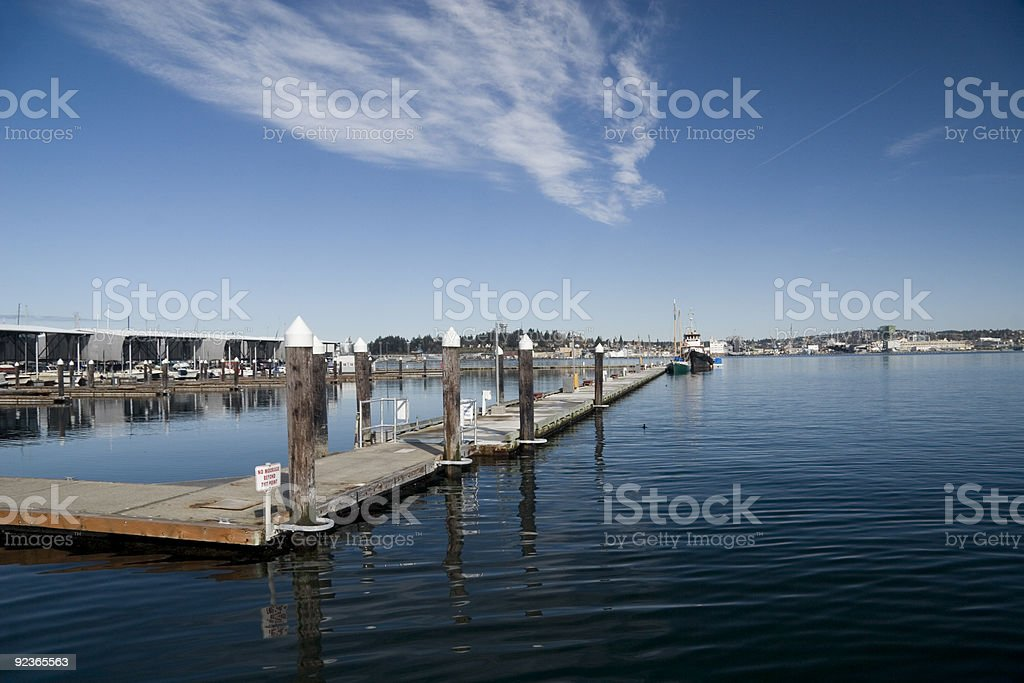 Port Orchard Marina, Puget Sound Washington stock photo
