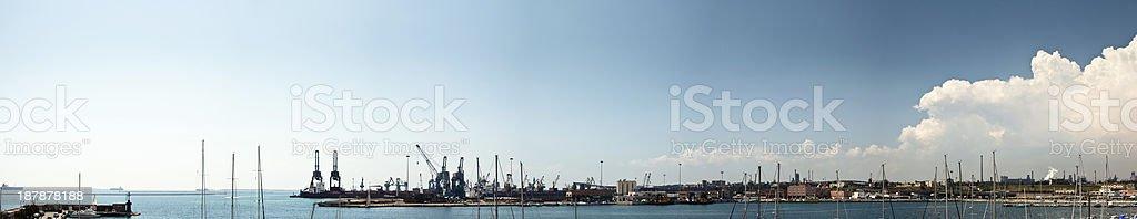 Port panorama stock photo