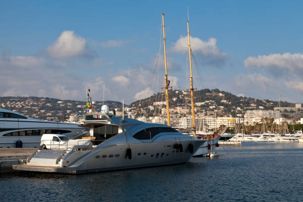 Port Pierre Canto in Cannes stock photo