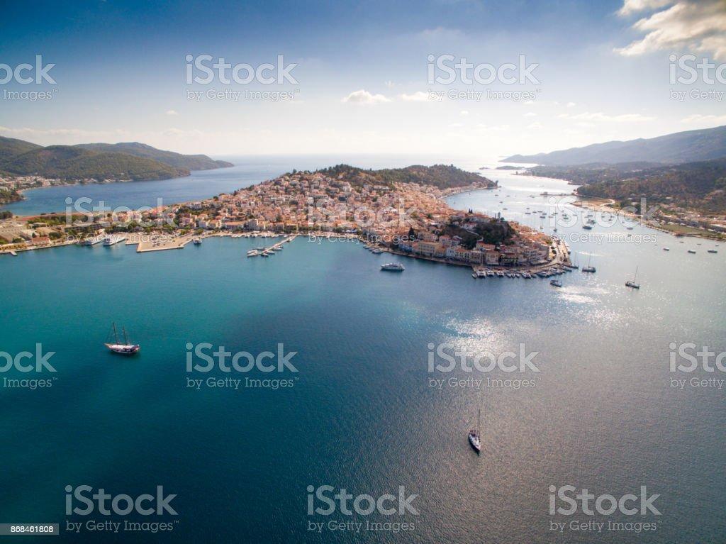 Port Piraeus in Athens stock photo