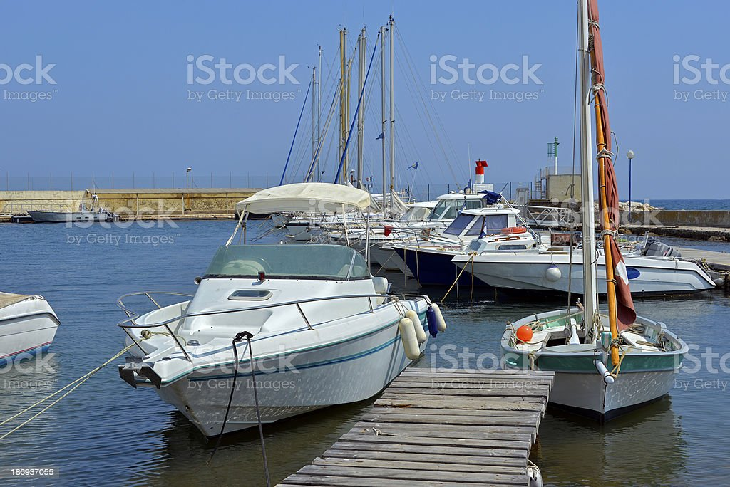 Port Pothuau à Hyères in France stock photo