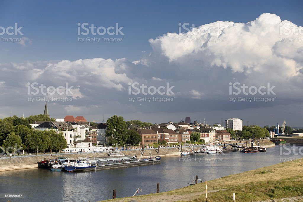 Hafen Ruhrort stock photo