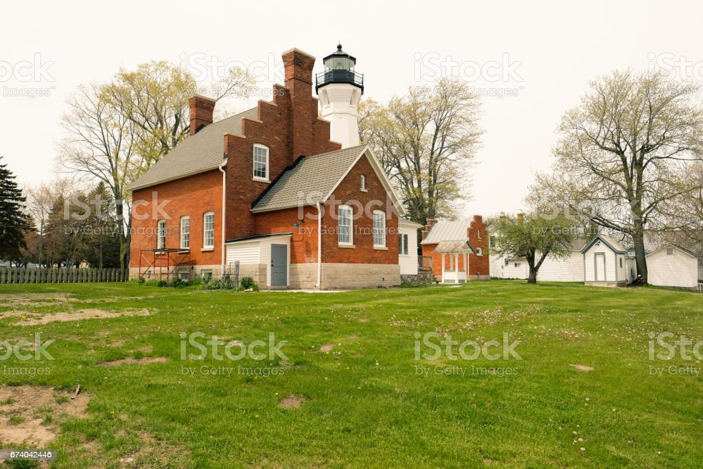 Port Sanilac Lighthouse, built in 1886 royalty-free stock photo