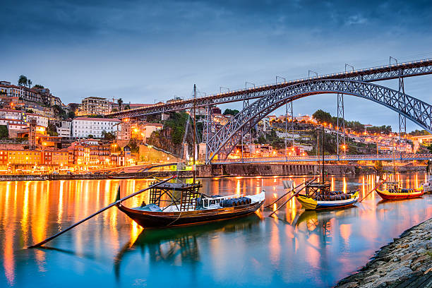 porto skyline - portugal stock photos and pictures