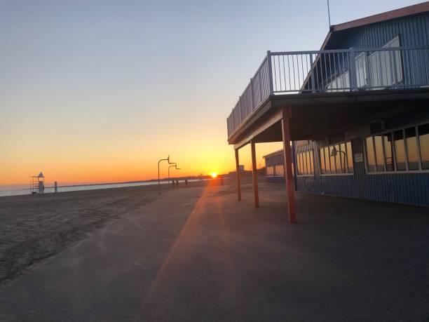 Port Stanley ontario sunset stock photo