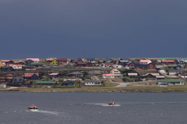 haven stanley - port stanley falkland islands stockfoto's en -beelden