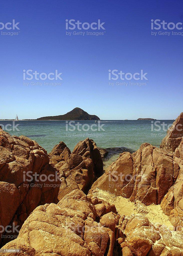 port stephens shoal bay royalty-free stock photo