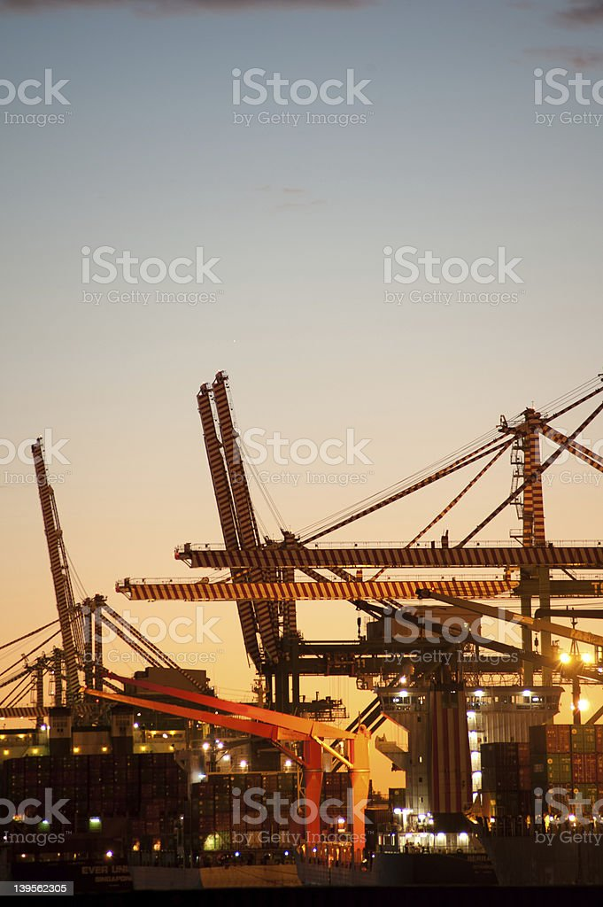 port structures stock photo