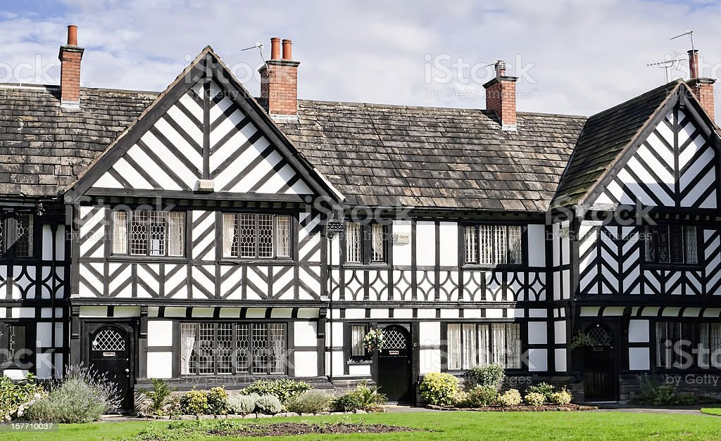 Port sunlight cottages. royalty-free stock photo