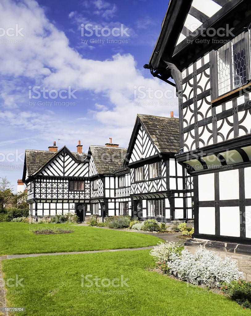 Port sunlight cottages. stock photo