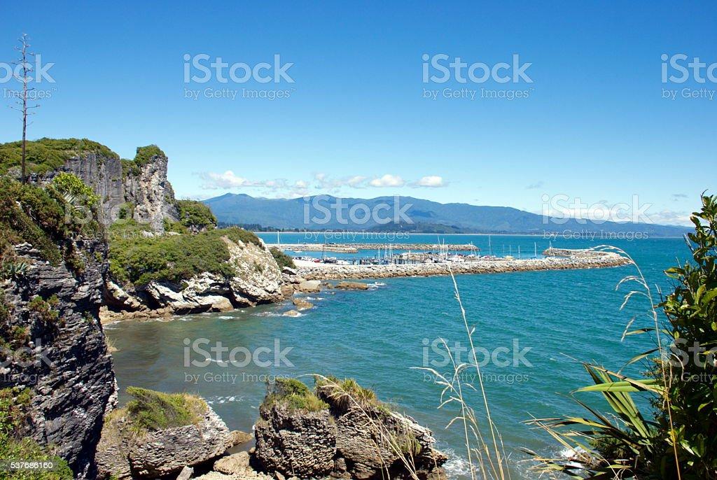 Port Tarakohe, Pohara, Takaka, Golden Bay, NZ stock photo