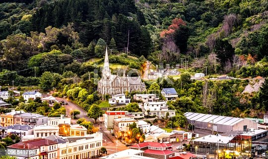 Port town of Port Chalmers, Dunedin New Zealand