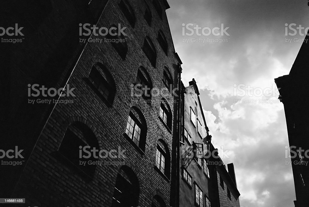 Port town royalty-free stock photo
