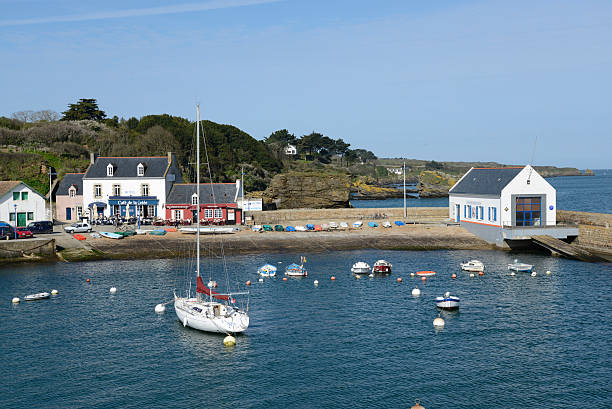 Port Tudy auf der Île de Groix, Bretagne – Foto