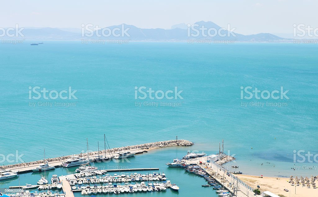 Port Tunisia stock photo