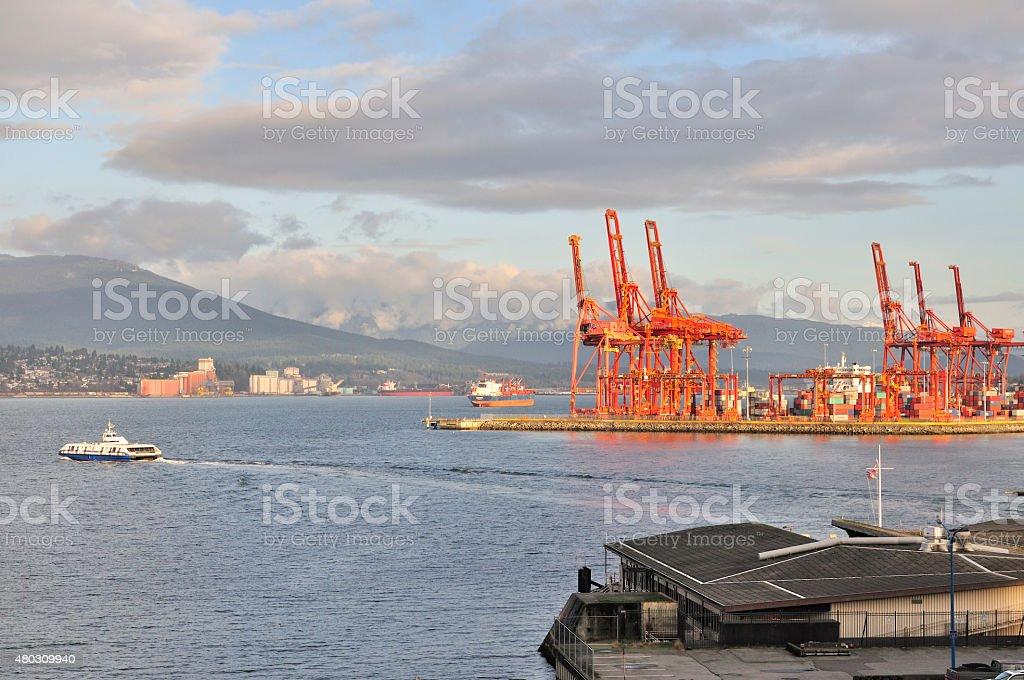 Port Vancouver stock photo