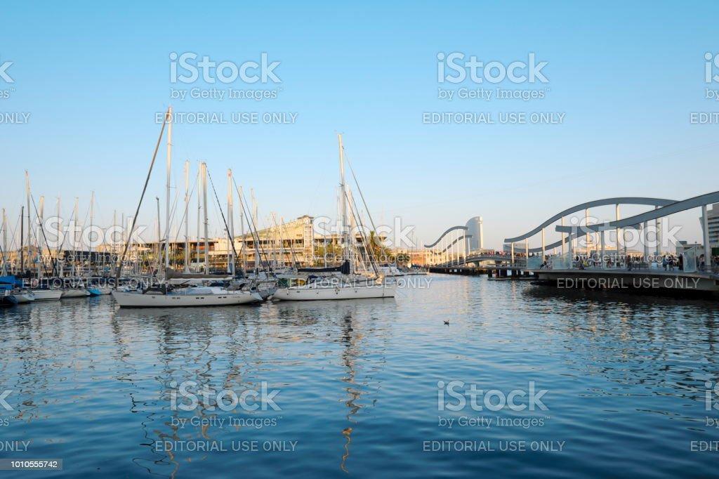 Port vell, Barcelona, Spain - foto stock