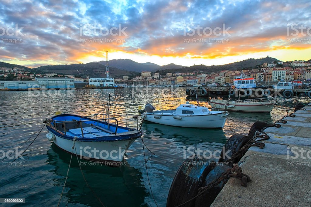 Port Vendres stock photo