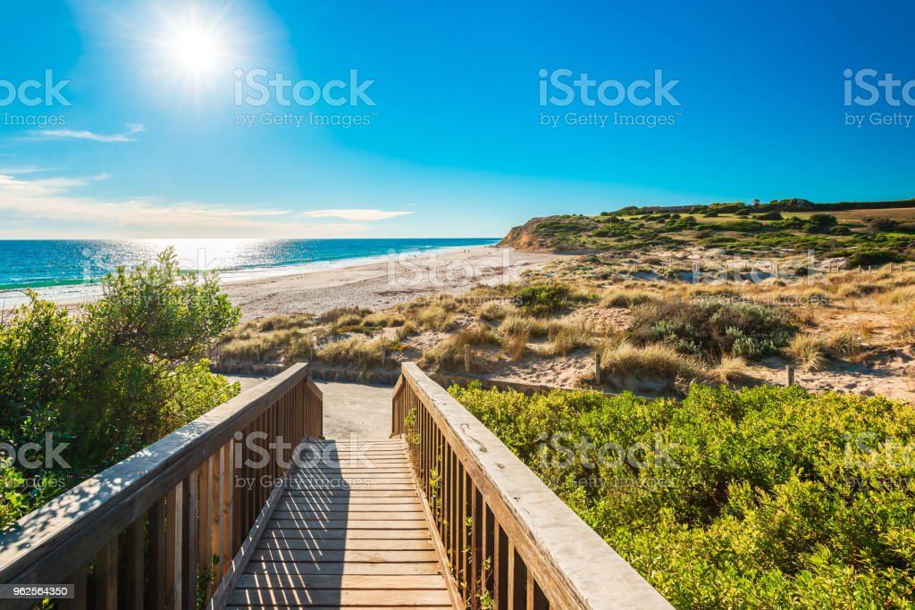 Port Willunga Beach,  Adelaide stock photo